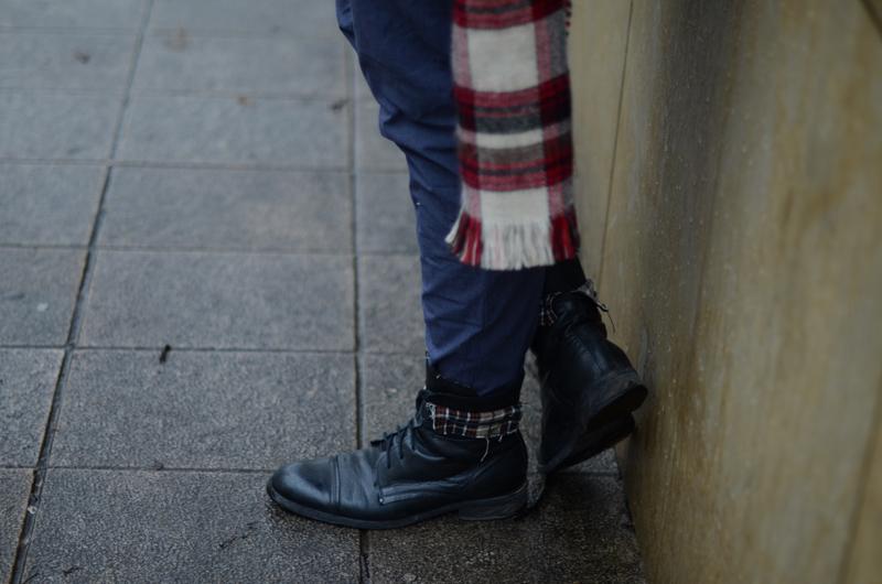 czarne wysokie buty męskie