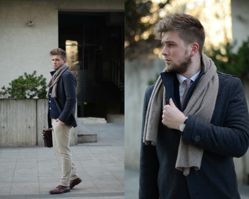 zimowy outfit meski