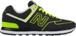 new balance 574 czarno zielone