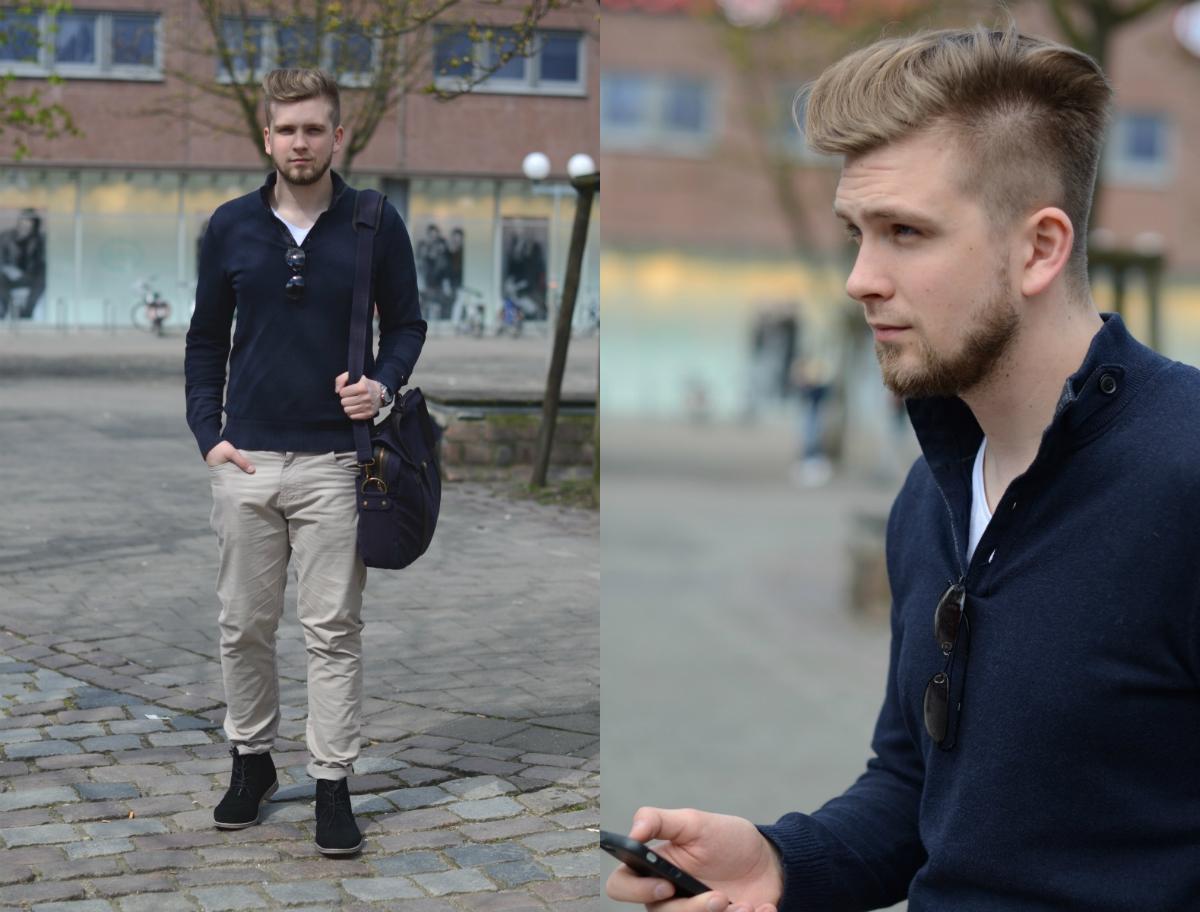 niebieski sweter podlinski