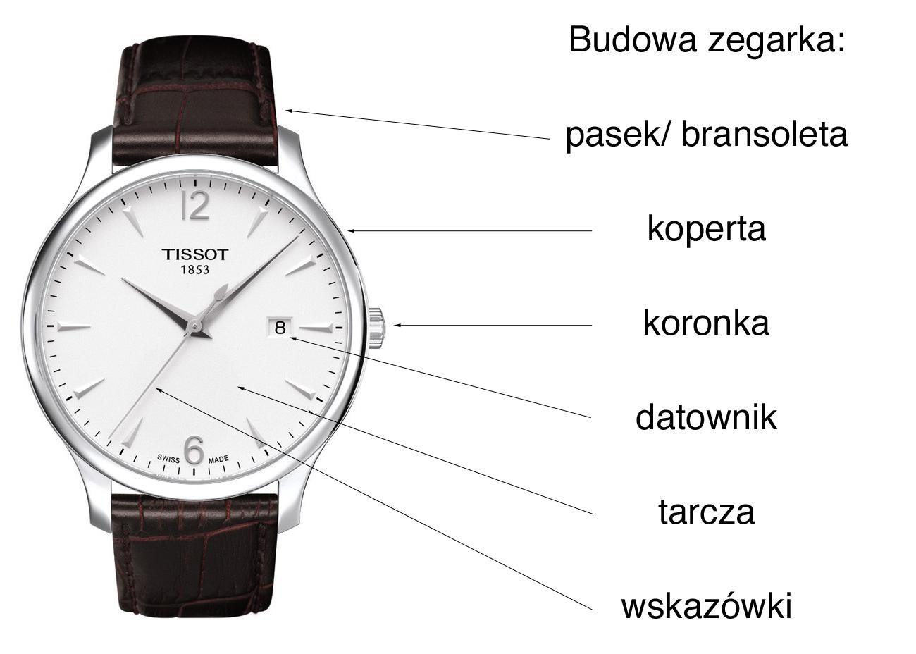 Budowa zegarka - meski zegarek