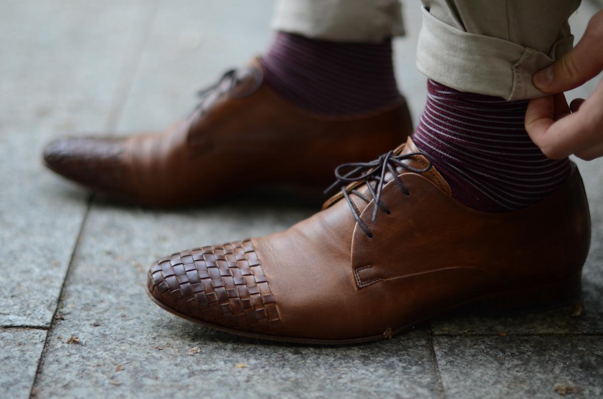 męskie buty z plecionką