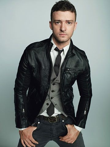 justin timberlake in leather