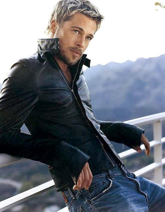 brad pitt in leather