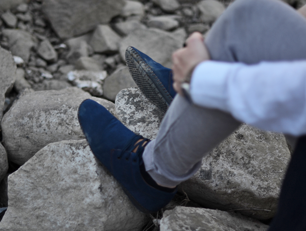 buty granatowe na lato meskie