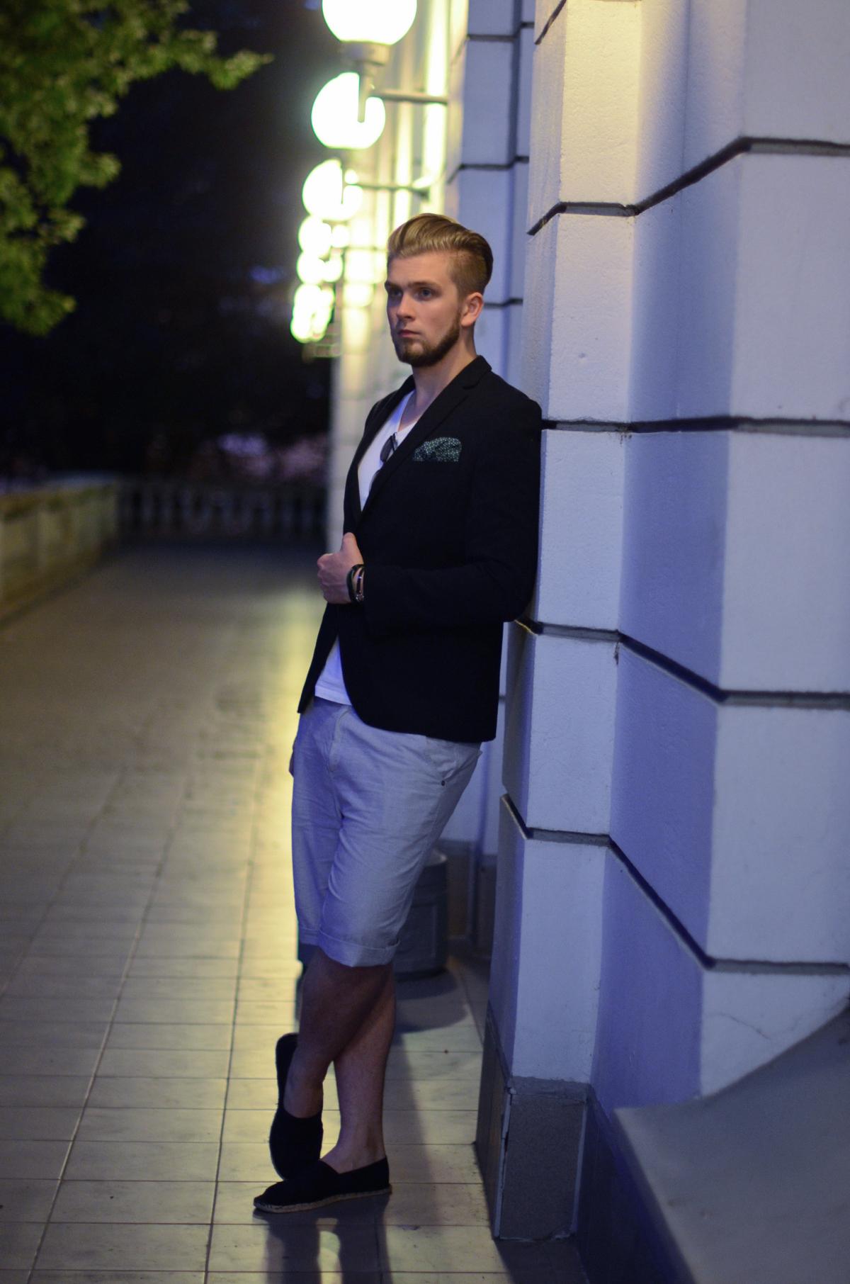 moda meska wieczorem