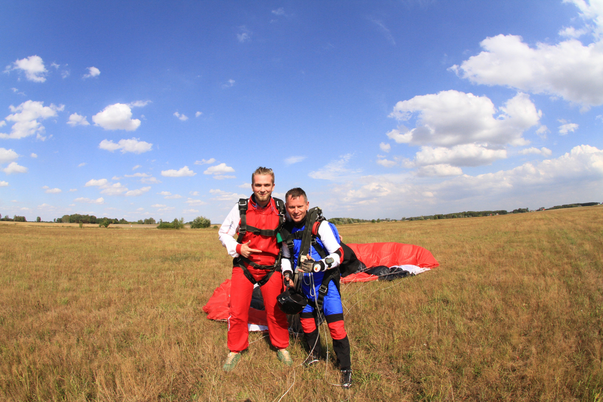 skok ze spadochronem - przygotowania