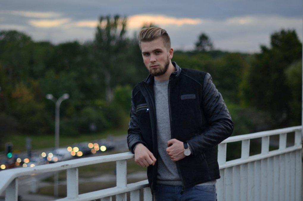 7b6ea9db4b8da Czarna skórzana kurtka - Moda męska i lifestyle