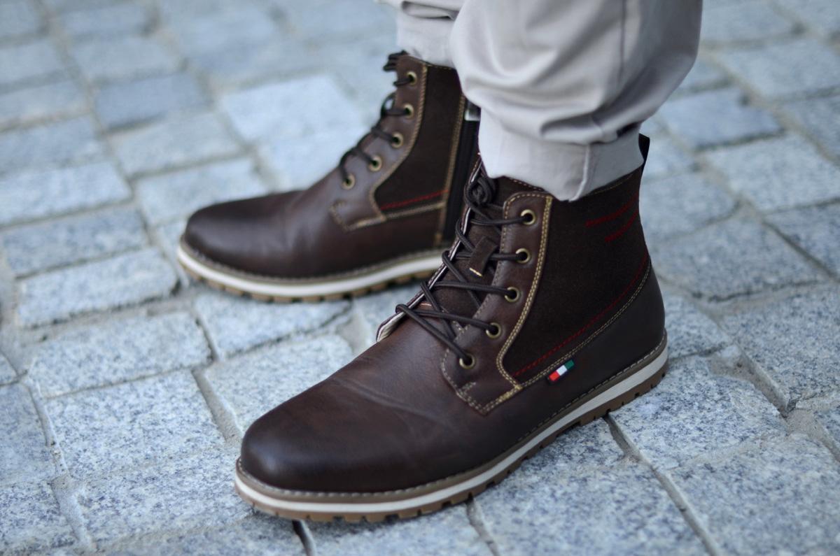 meskie buty na zime kari
