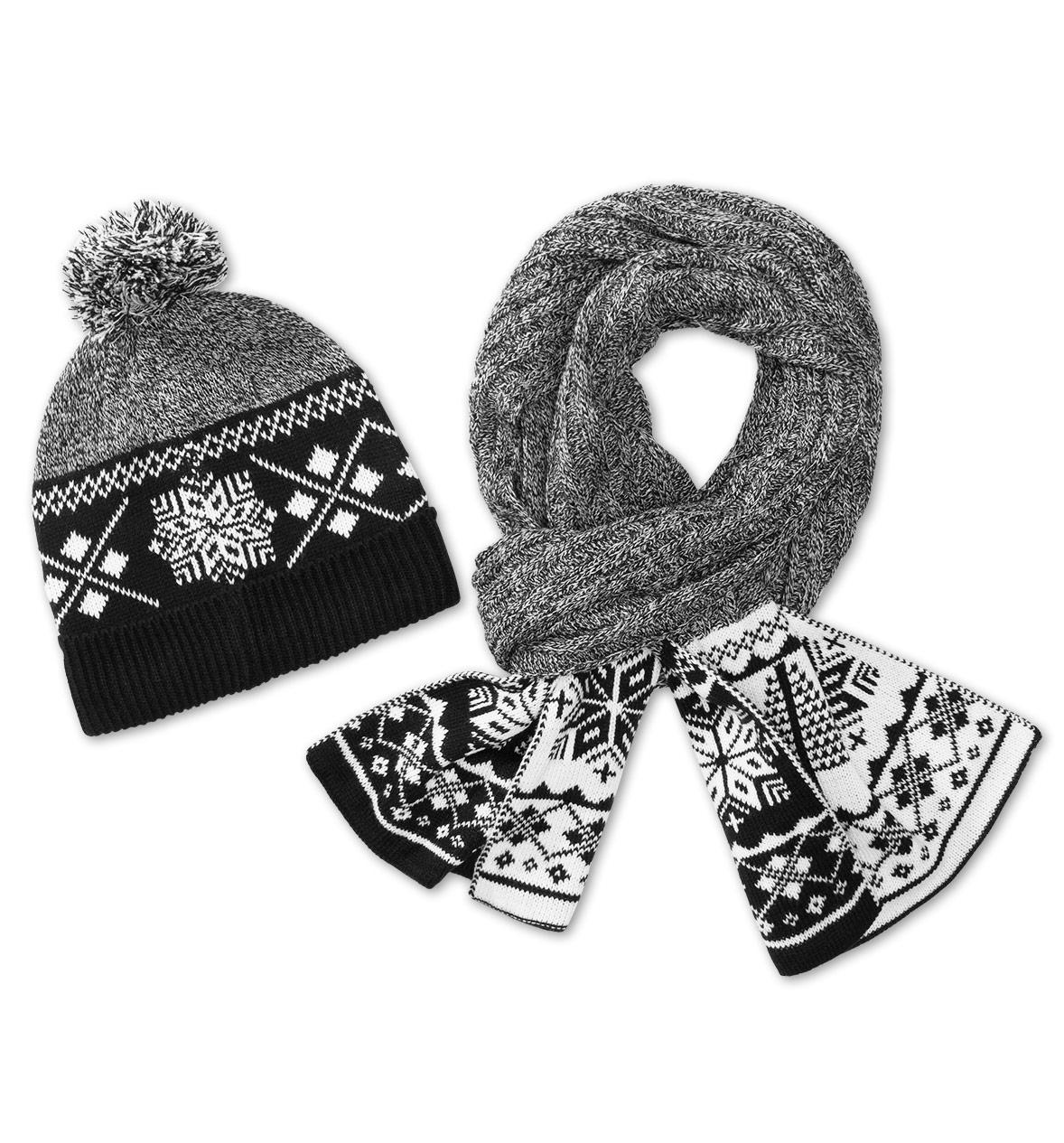 meski prezent - szal i czapka