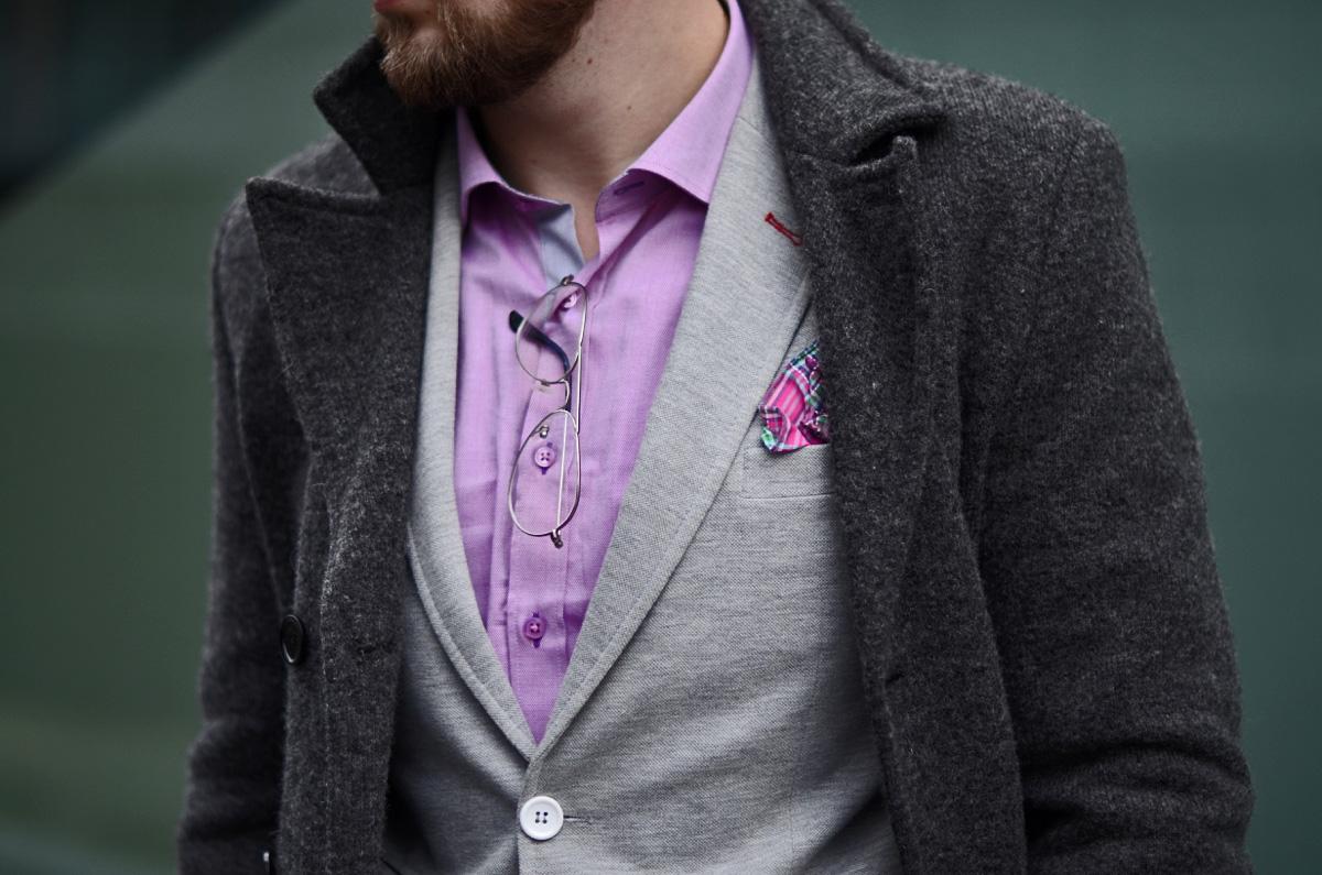 meska rozowa koszula casual
