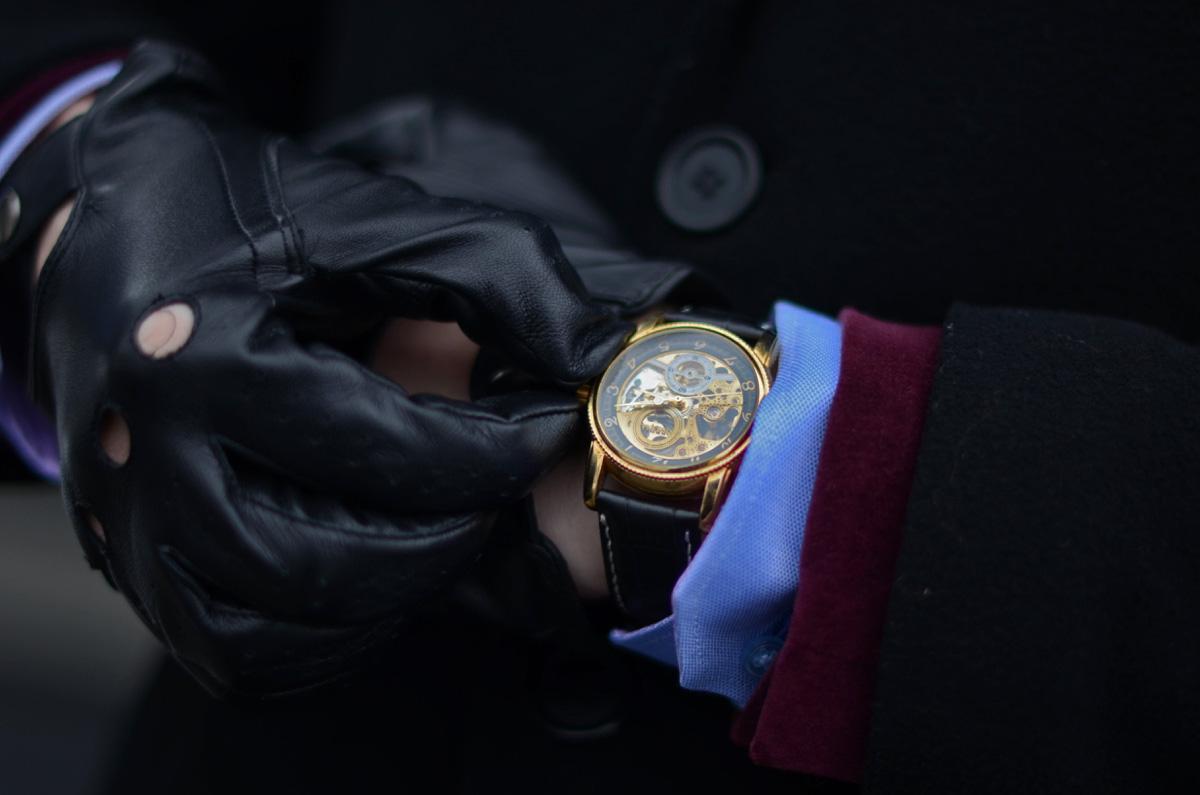 meski zegarek skeleton