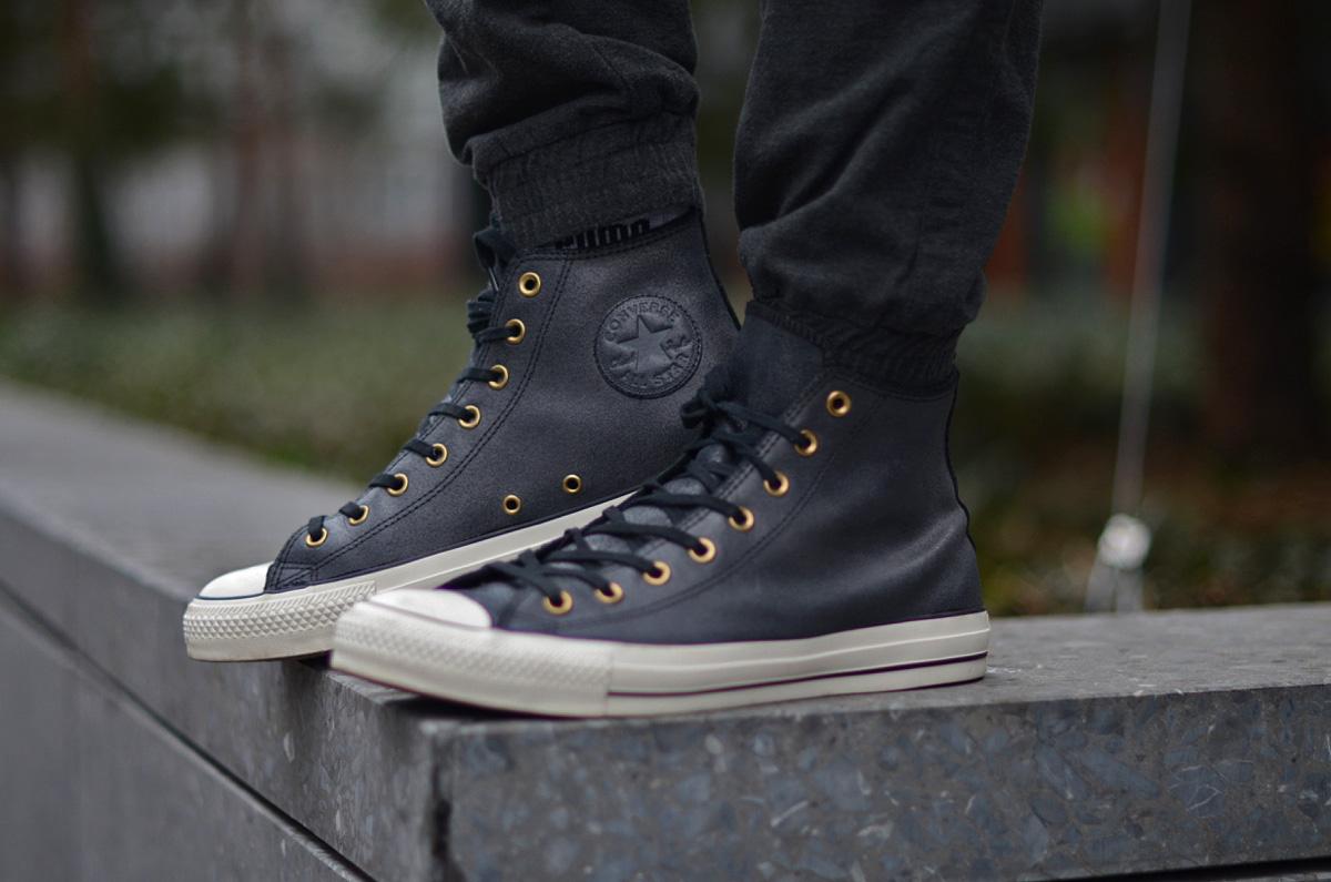 meskie buty trampki converse czarne skora
