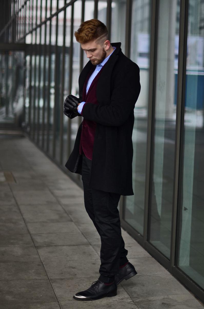 moda meska zimowa elegancja