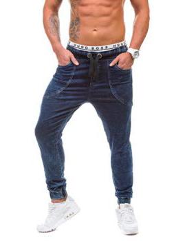 meskie baggy jeans ciemne