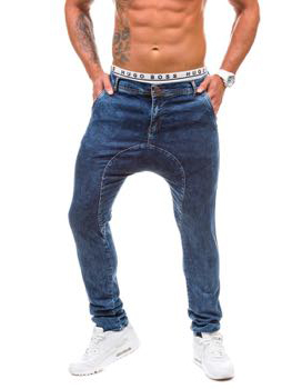 meskie baggy jeans ciemny granat