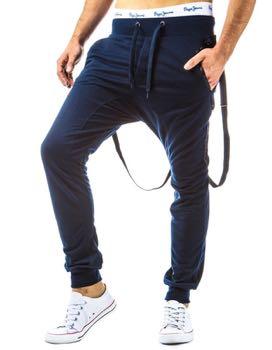 meskie spodnie baggy granat
