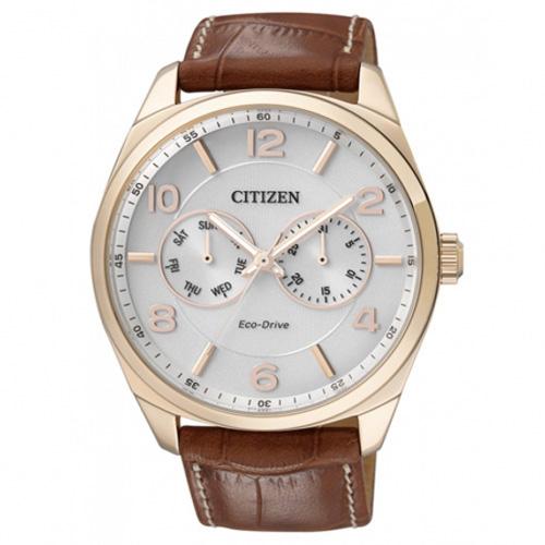 citizen zegarek meski brazowy
