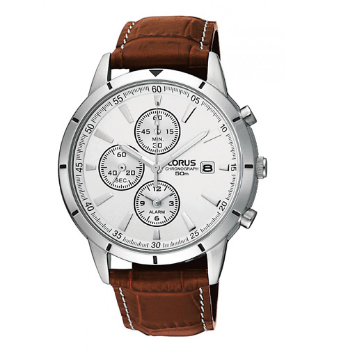 lorus zegarek meski brazowy