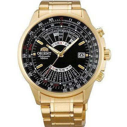 orient meski zegarek zloty