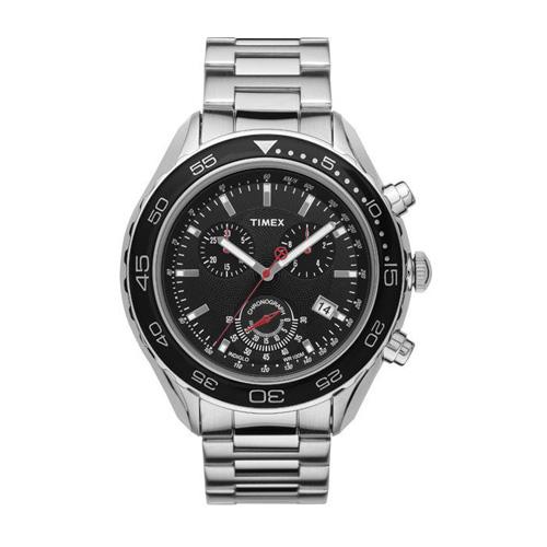 timex meski zegarek srebrny