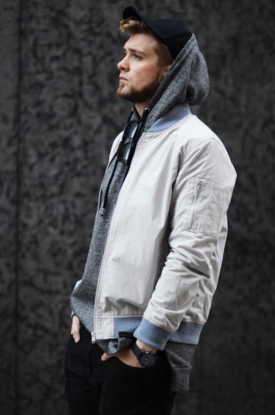 dluga meska bluza z kapturem streetwear