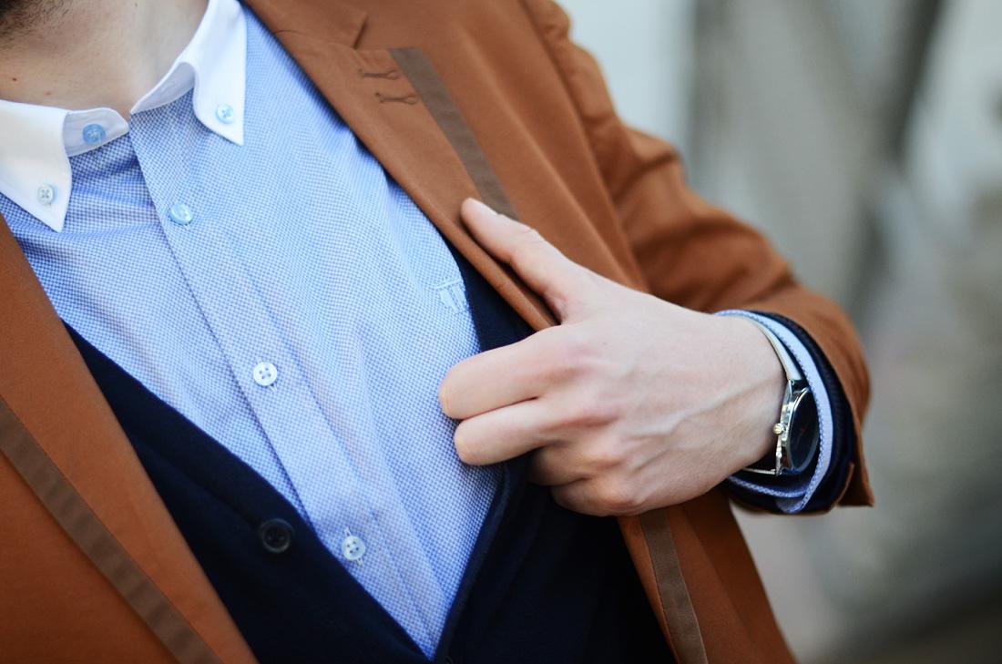 koszula sheirt blekitna bialy kolnierz