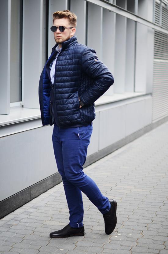 meska kurtka pikowana wiosna