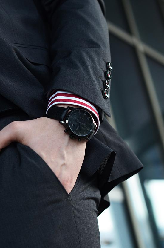meski zegarek czarny hugo boss