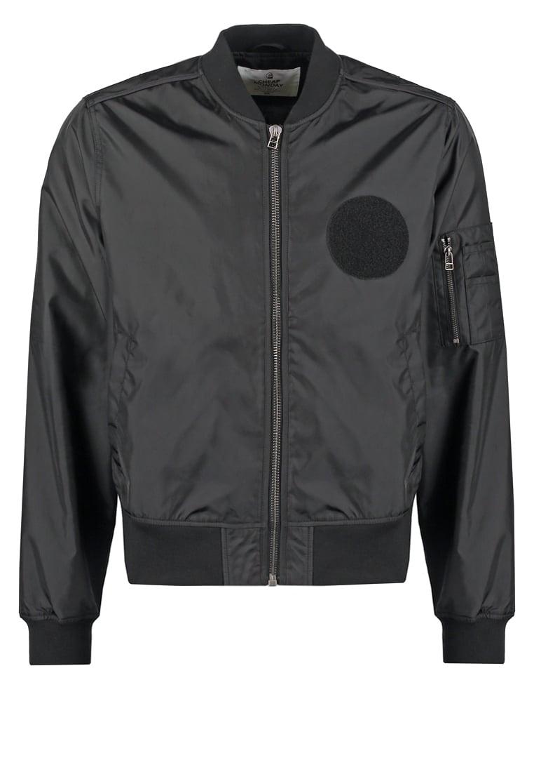czarna kurtka pilotka bomber jacket