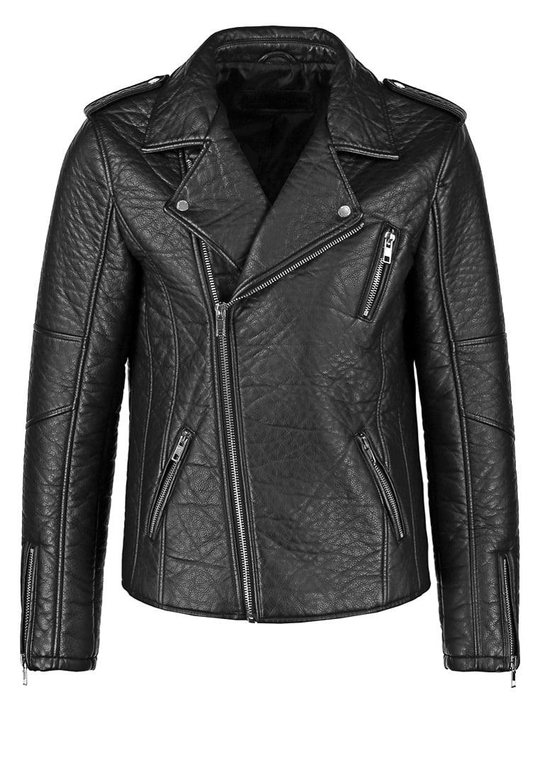 meska ramoneska kurtka motocyklowa czarna