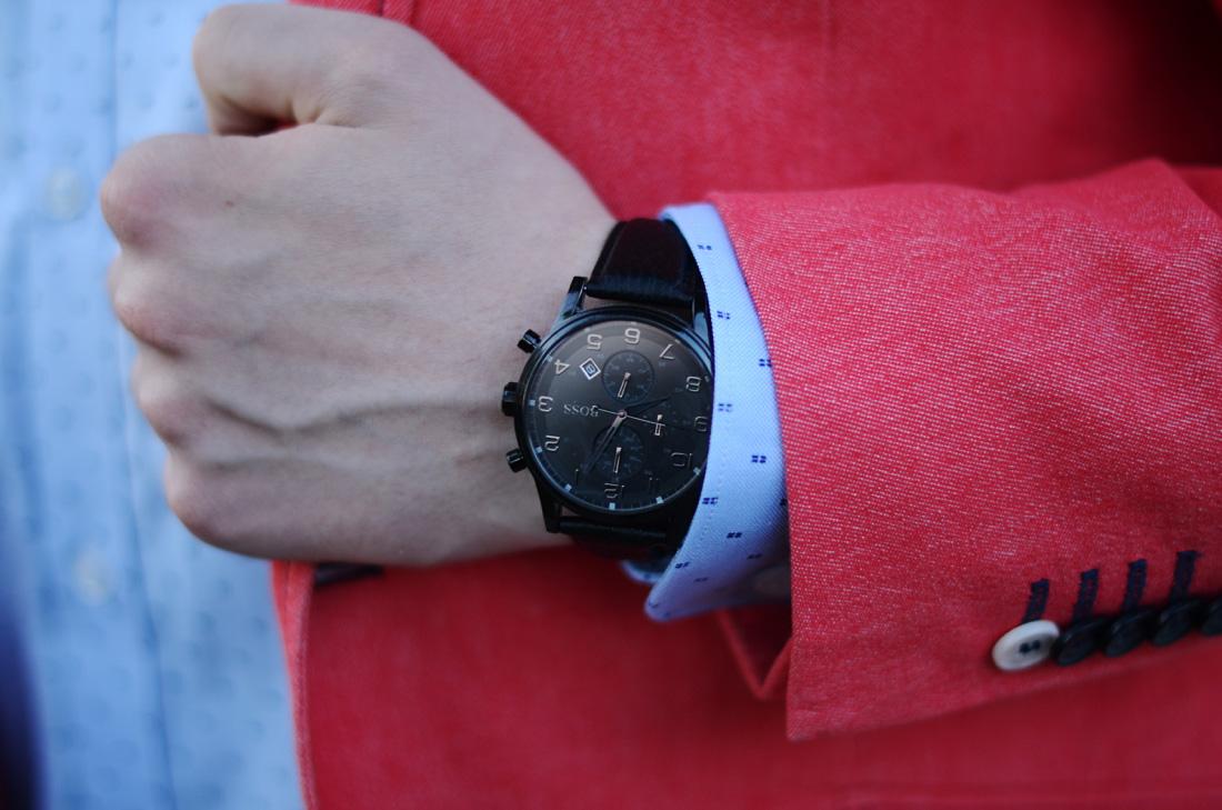 meski zegarek hugo boss czarny