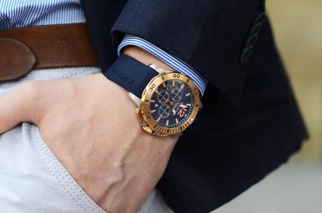 meski zegarek nautica