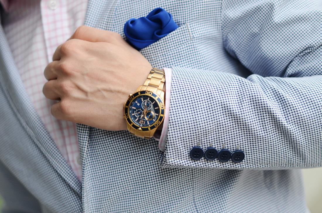 zloty zegarek nautica diver