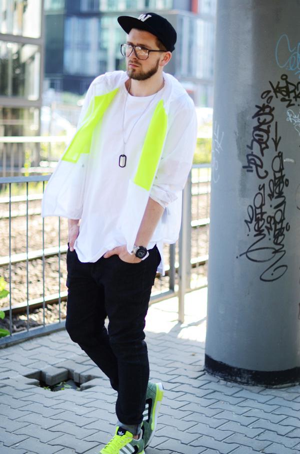 adidas zx flux stylizacj outfit