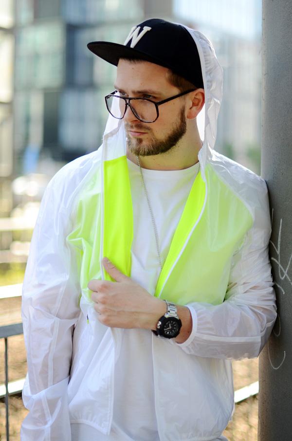 ortalionowa kurtka streetwear sliska