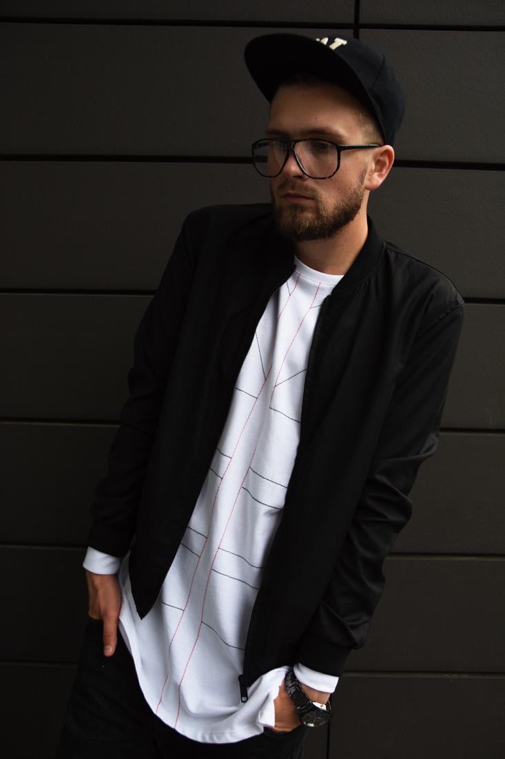 asymetryczna meska bluza