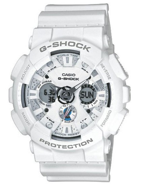 biały zegarek casio g-shock