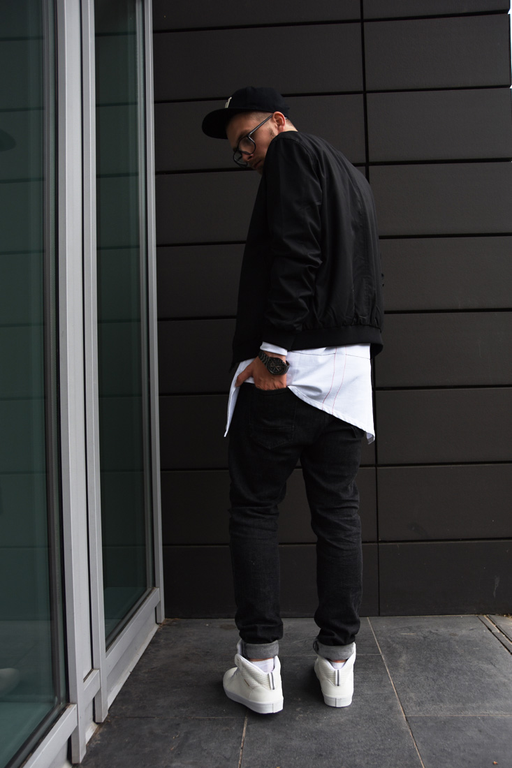 black and white menswear streetstyle outfit