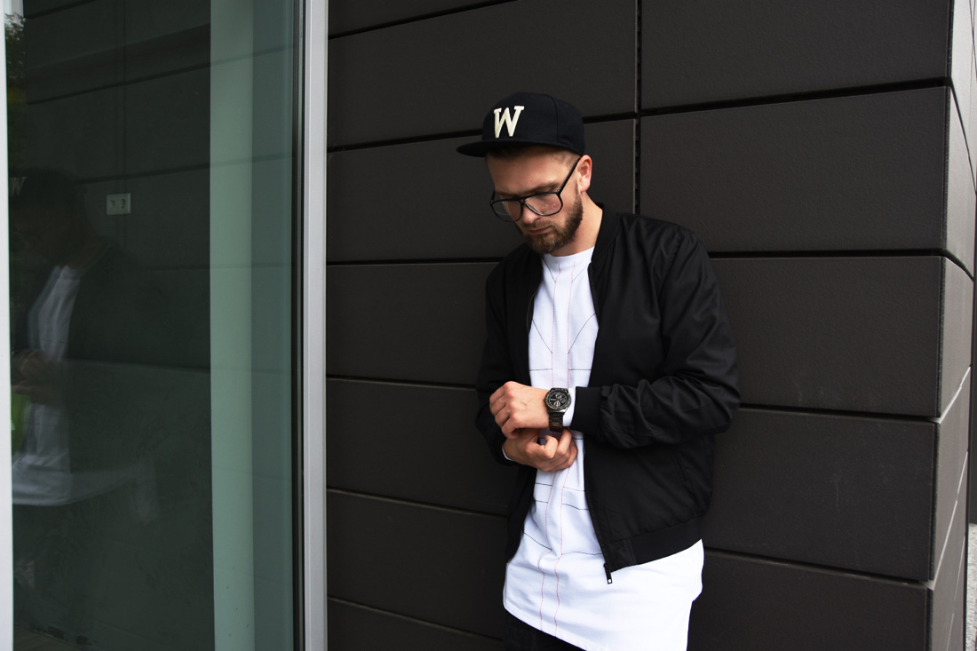 black and white streetwear