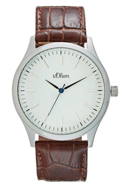 brązowy zegarek s oliver