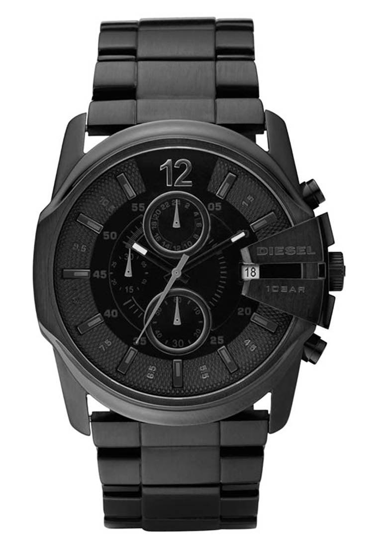 czarny zegarek disel