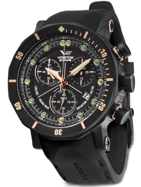 czarny zegarek vostok