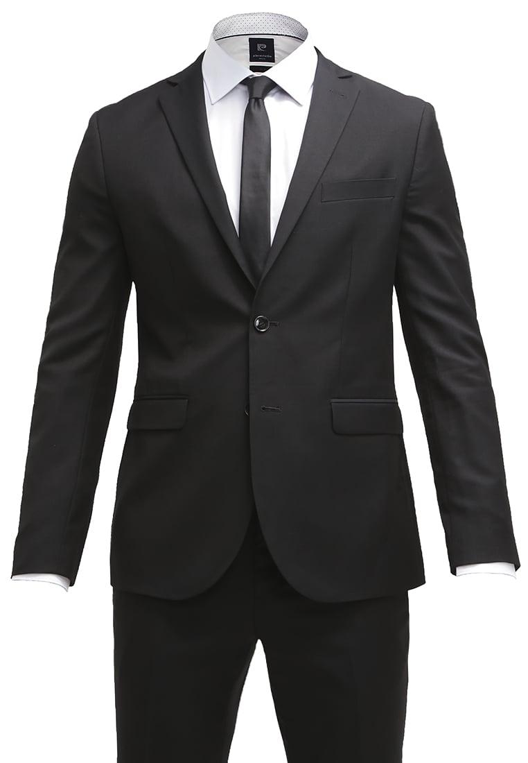 meski czarny garnitur styl galowy