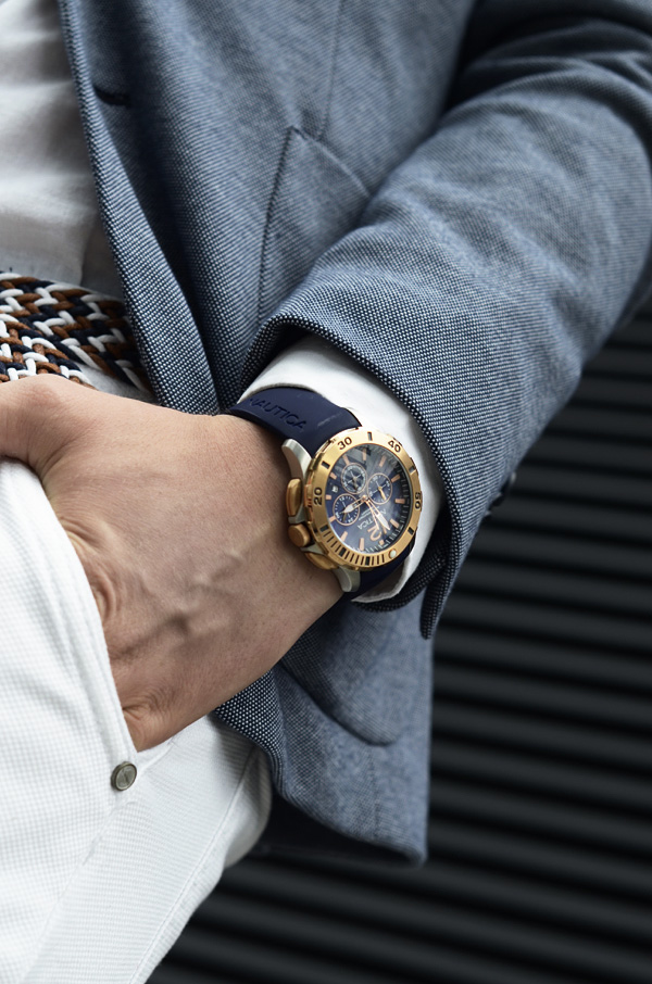 meski zegarek nautica timetrend