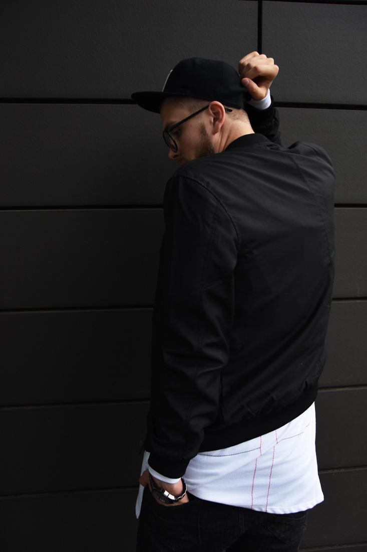 miejski styl meski streetwear bomber kurtka
