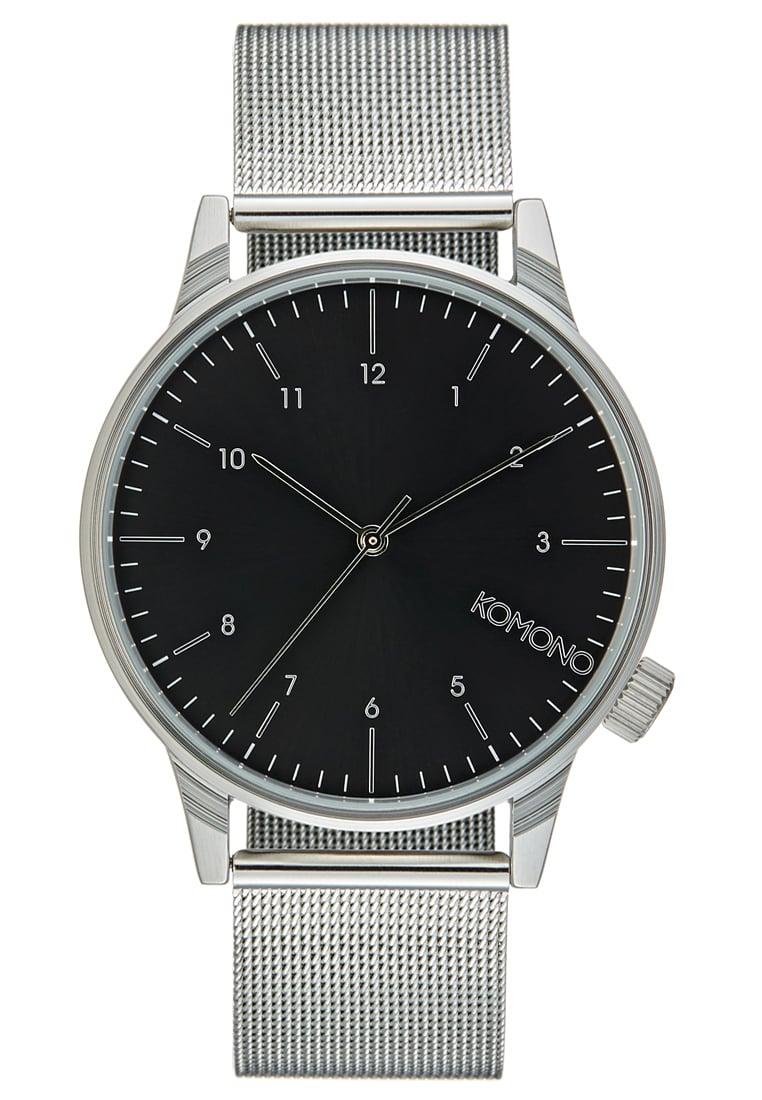 srebrny zegarek komono
