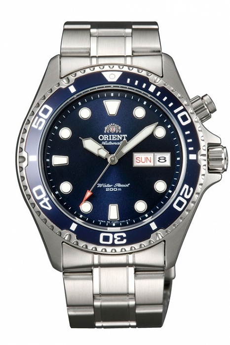 srebrny zegarek orient
