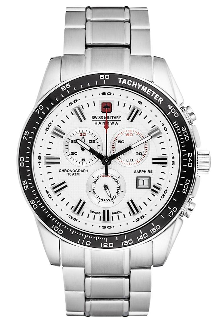 srebrny zegarek swiss