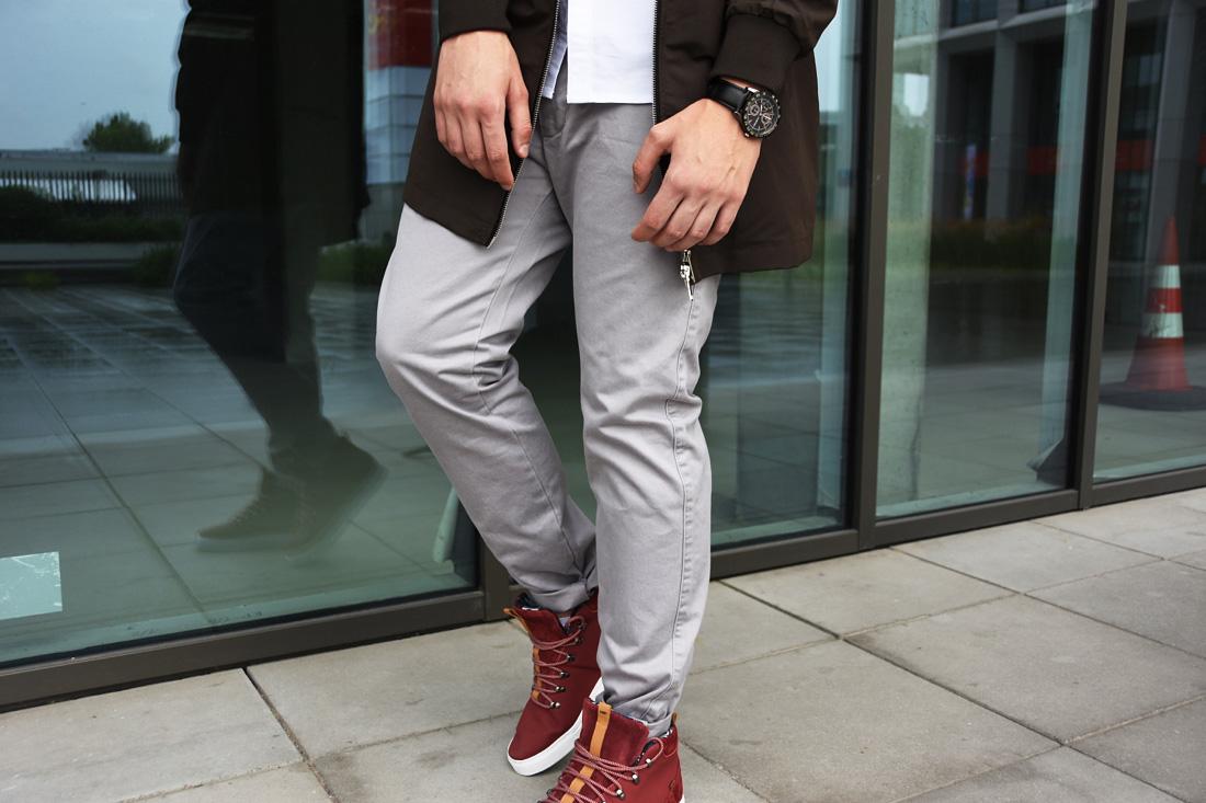 szare meskie jeansy